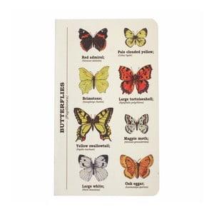 Notes Gift Republic Multi Butterflies, rozm.A6