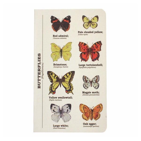 Notes Gift Republic Multi Butterflies, rozm. A6
