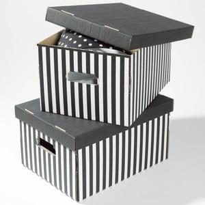 Zestaw 2 szarych pudełek Compactor Stripes