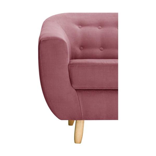 Różowy fotel Jalouse Maison Vicky