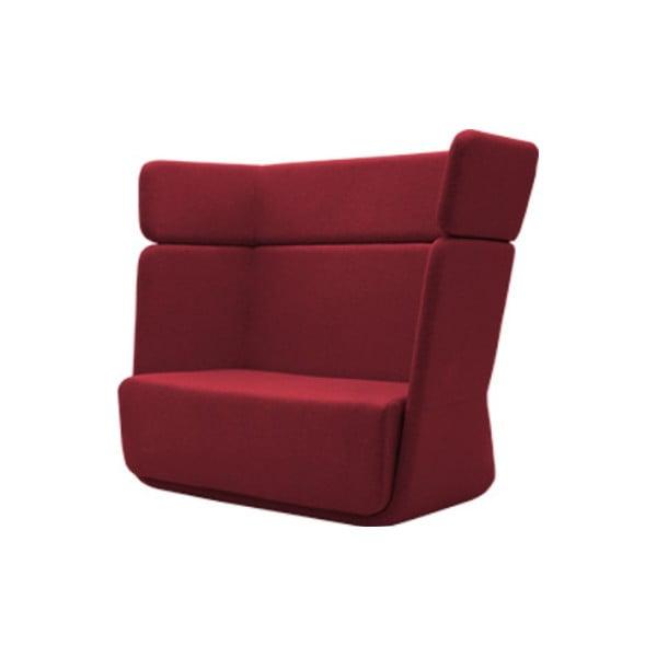Ciemnoczerwony fotel Softline Basket Felt Red