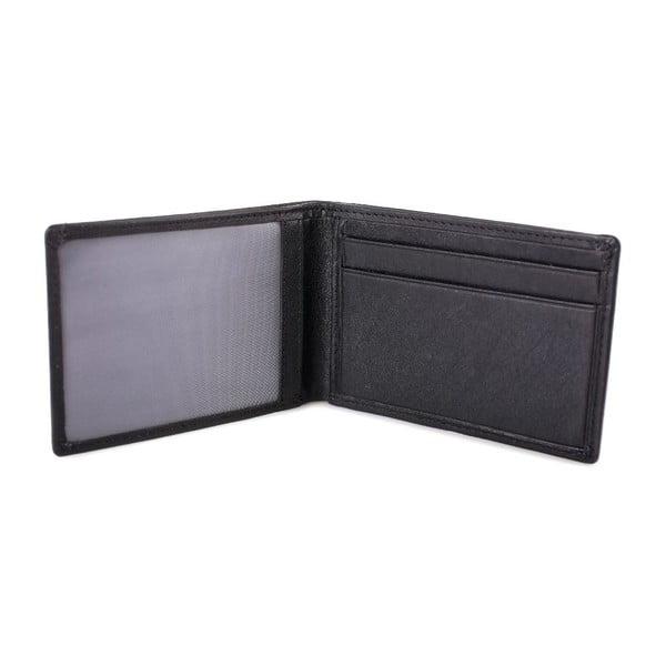 Skórzany portfel Lois Black, 10x7 cm