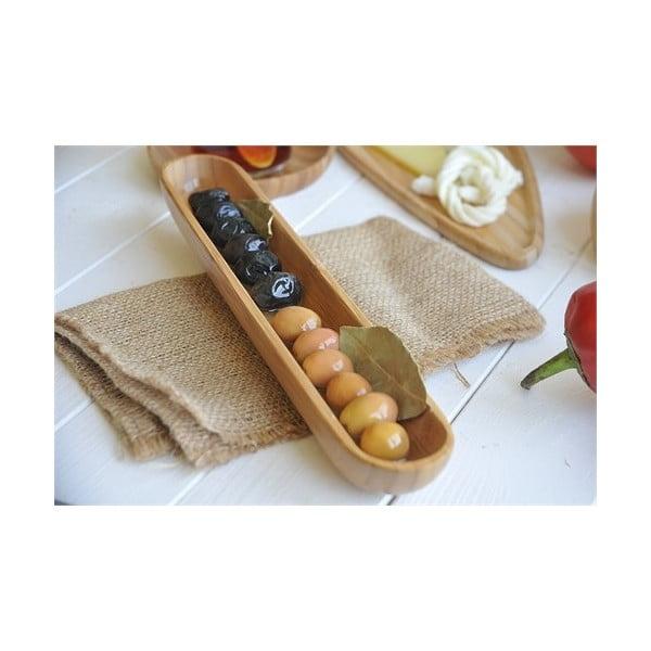 Bambusowa miska na oliwki Luiz, 22 cm