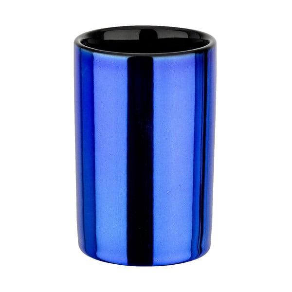 Kubek na szczoteczki Blue Metallic