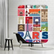 Zasłona prysznicowa Paris, 180x180 cm