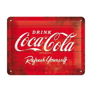 Blaszana tabliczka Refreshing Yourself, 15x20cm
