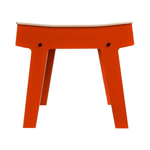 Pomarańczowy stolik/stołek ze schowkiem rform Pi