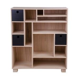 Drewniany regał z szufladami House Nordic Livorno Noir