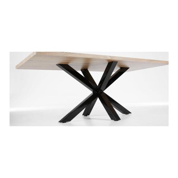 Stół z czarnymi nogami La Forma Arya Natural,dł.200cm