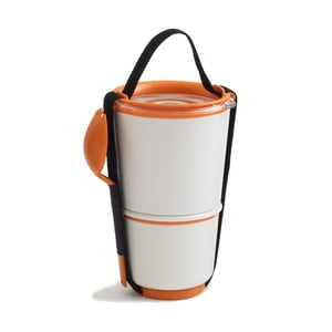Pojemnik obiadowy, biały/pomarańczowy