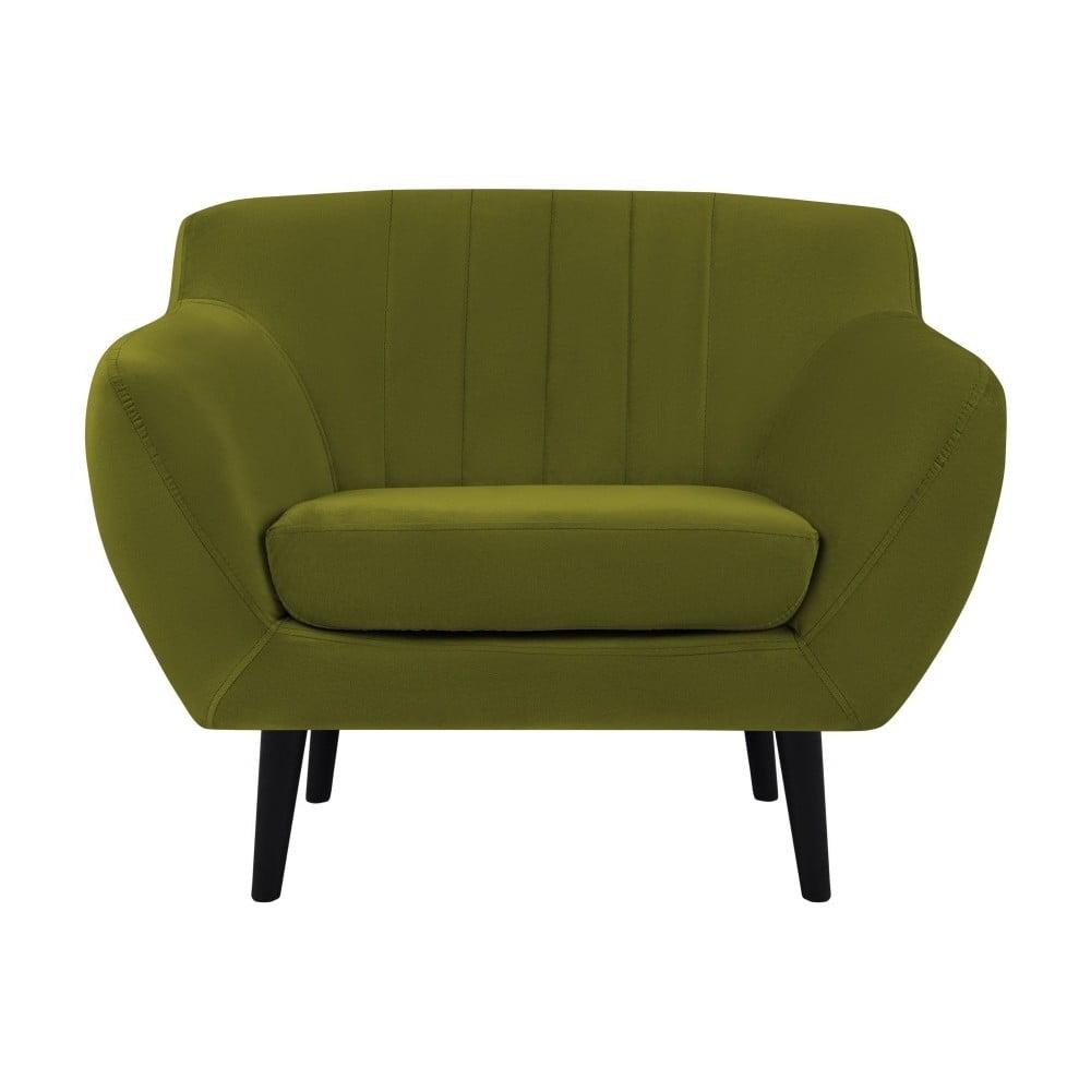 Zielony aksamitny fotel Mazzini Sofas Toscane