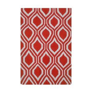 Wełniany dywan Kilim 65 Orange, 160x220 cm