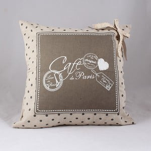 Poszewka na poduszkę Café de Paris 40x40 cm, ciemna