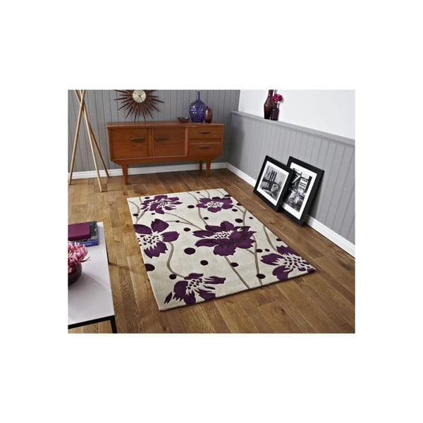 Dywan Hongkong Cream Purple, 90x150 cm