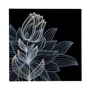 Szklany obraz Black Tulip, 30x30 cm