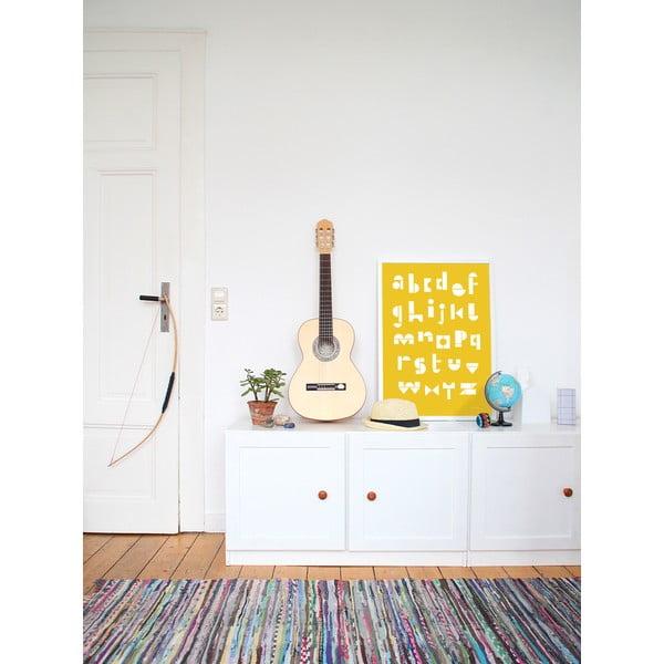 Plakat SNUG.ABC, 50x70 cm, żółty