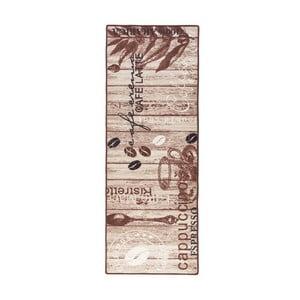 Brązowy chodnik kuchenny Hans Home Delicious Coffee, 67x180 cm