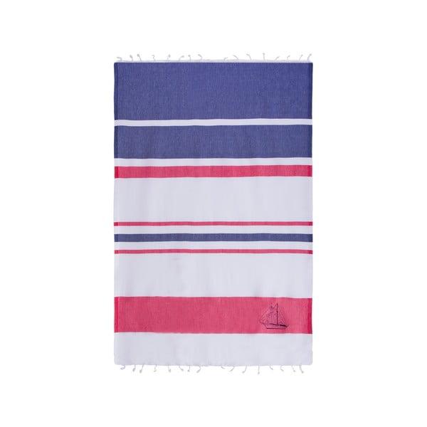 Ręcznik hammam Sea Pool Dark Blue Red, 100x170 cm
