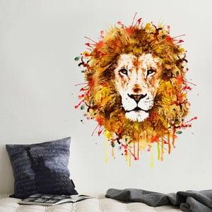 Naklejka Kolorowy lew, 70x50 cm