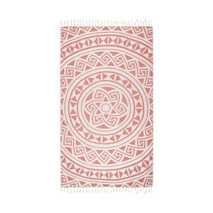 Pomarańczowy ręcznik hammam Kate Louise Mirabelle, 165x100cm
