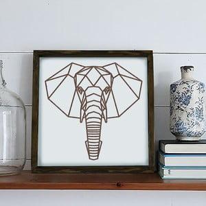Obraz w ramie Dekorjinal Pouff Elephants Head, 33x33cm