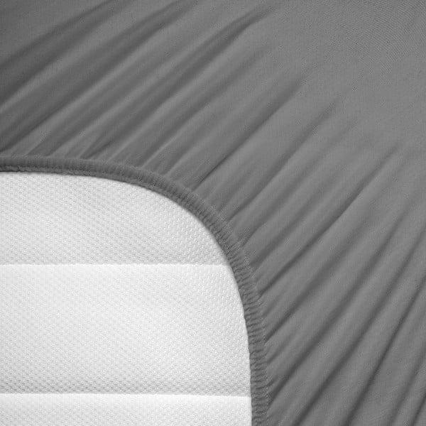 Prześcieradło elastyczne Hoeslaken 190-200x200-220 cm, szare