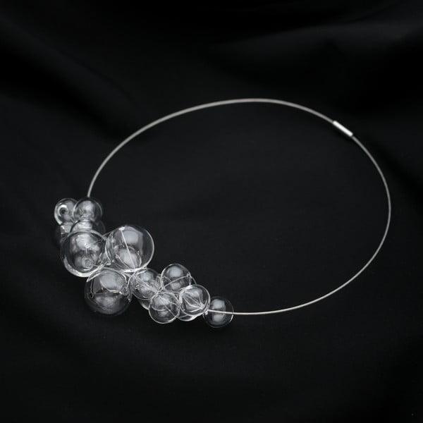 Szklany naszyjnik Ko–ra–le Crystal Foam