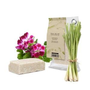 Mydło naturalne z cytrynową trawą i pelargonią HF Living