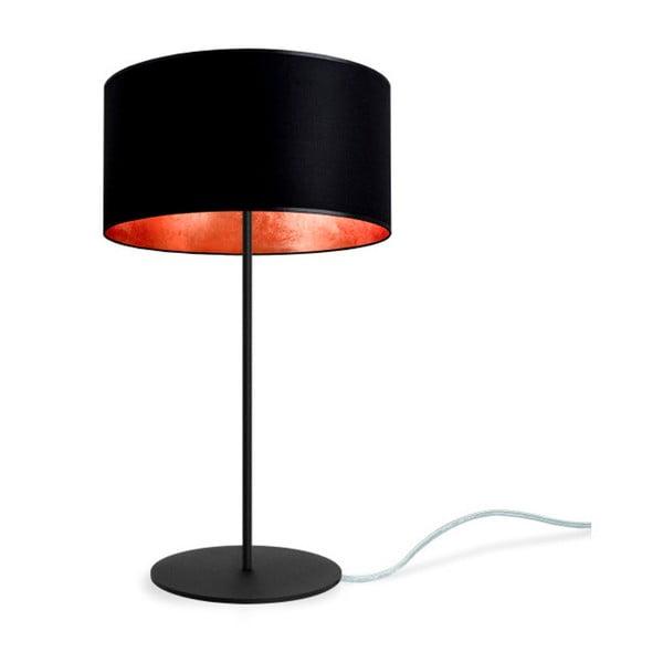 Czarno-miedziana lampa stołowa Bulb Attack Tres