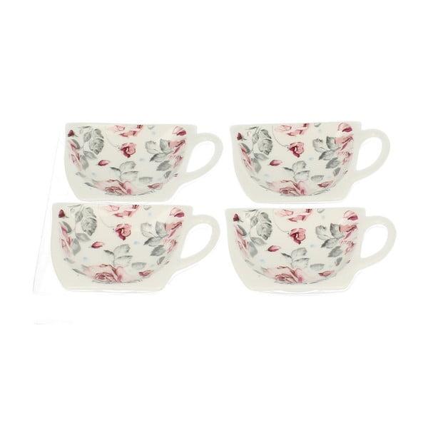 Zestaw 4 podstawek na woreczki od herbaty Róża