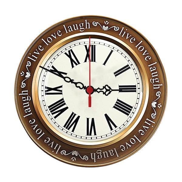 Zegar ścienny Live Love Laugh, 30 cm
