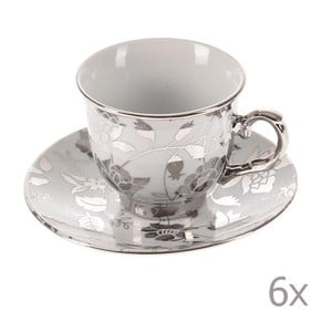 Zestaw filiżanek Silver Coffee, 6 sztuk