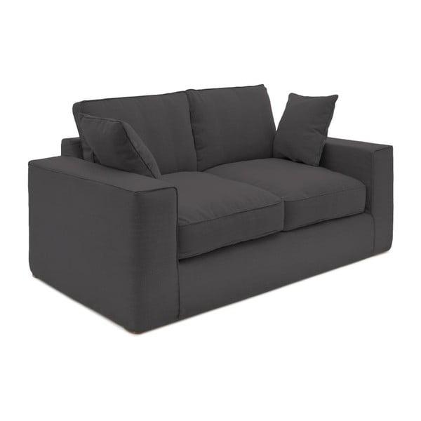 Antracytowa sofa dwuosobowa Vivonita Jane