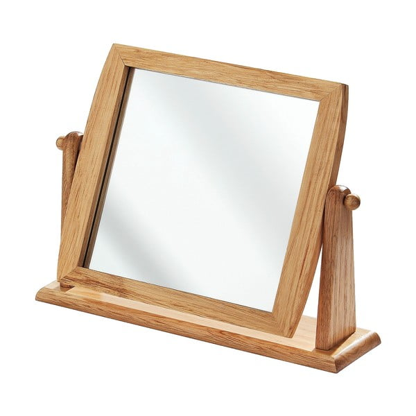 Lustro w drewnianej ramie Table Mirror, 9 cm | Bonami