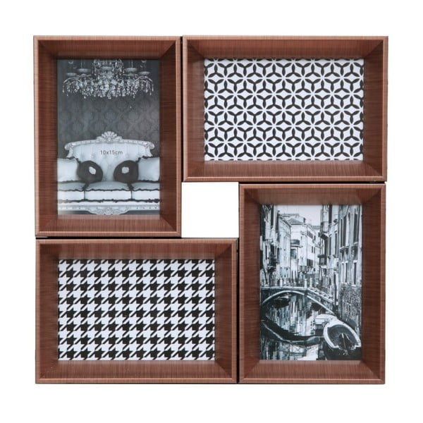 Połączone ramki na 4 zdjęcia Elegante, miedziane