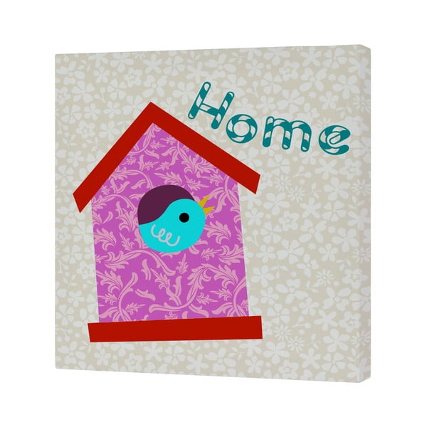 Obrazek Sweet Home Pink, 27x27 cm