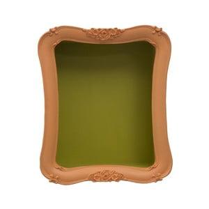 Pomarańczowa półka z zielonymi detalami Mauro Ferretti Arancio Simple