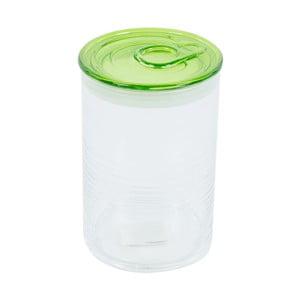 Pojemnik szklany z zielonym wieczkiem Kaleidos Can, 10,5x16cm
