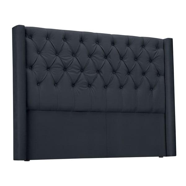 Antracytowy zagłówek łóżka Windsor & Co Sofas Queen, 196x120 cm