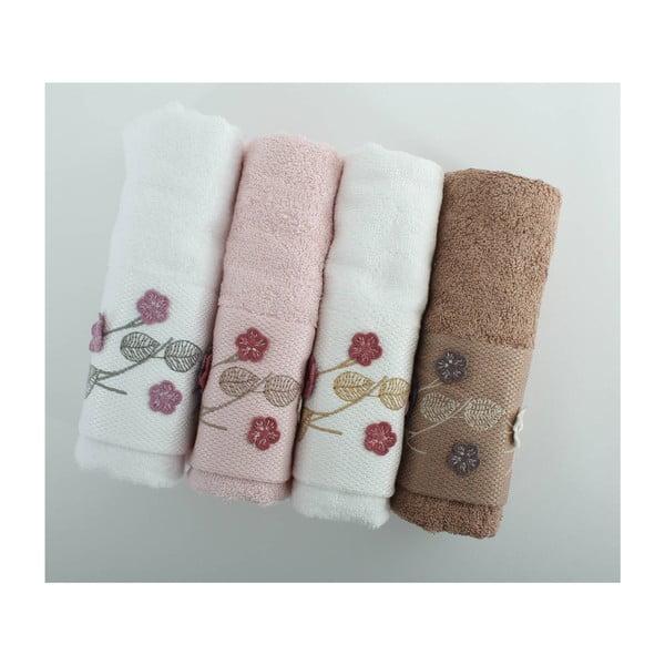 Komplet 4 ręczników Beyra Cice, 50x90 cm