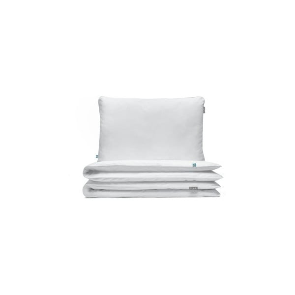 Biała bawełniana jednoosobowa pościel dziecięca Mumla, 200x220 cm