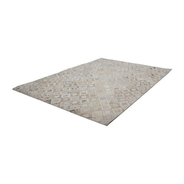 Kremowy skórzany dywan Dazzle, 80x150cm