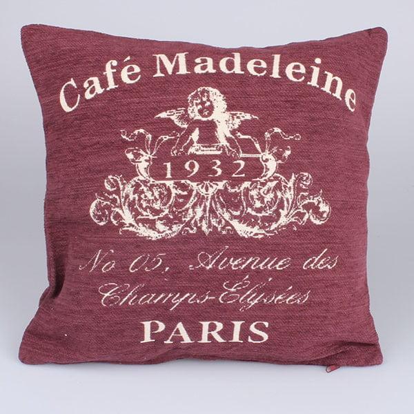 Poszewka na poduszkę Café Paris, czerwona