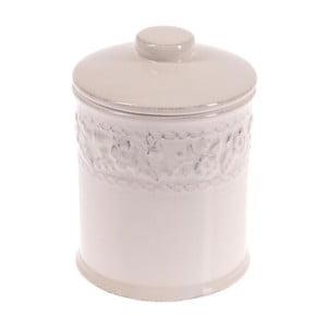 Ceramiczny pojemnik In White, 18 cm