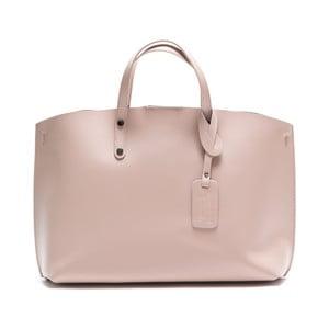 Skórzana torebka Luisa Vannini 3034, różowa