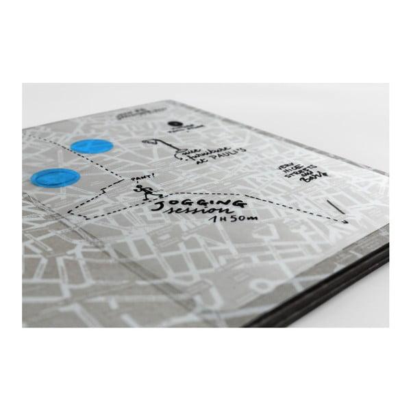Mapa Mediolanu z przezroczystymi kartkami na notatki Palomar Transparent City