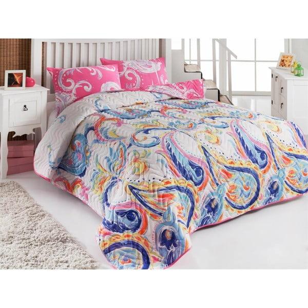 Pikowana narzuta i 2 poszewki na poduszki Single 117, 160x220 cm