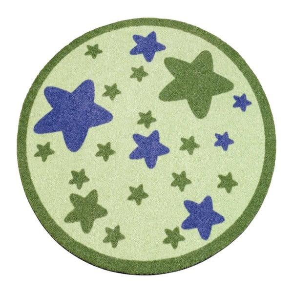 Dywan Deko - zielony w gwiazdy, 100 cm
