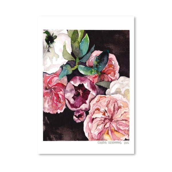 Plakat Blooms on Black IV, 30x42 cm