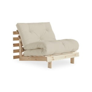 Fotel rozkładany Karup Design Roots Raw/Beige